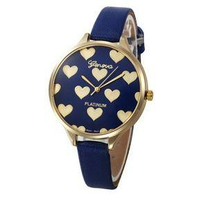New Womens Heart Pattern Quartz Watch